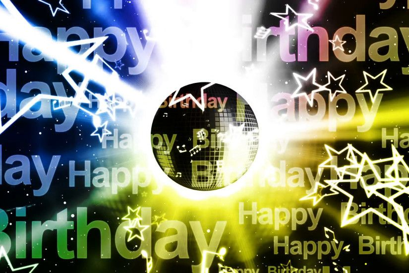 Happy Birthday Music Looping Animated Background