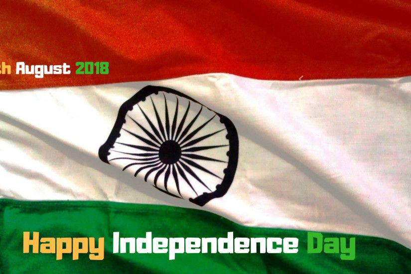 Indian Flag Wishing Happy Independence Day