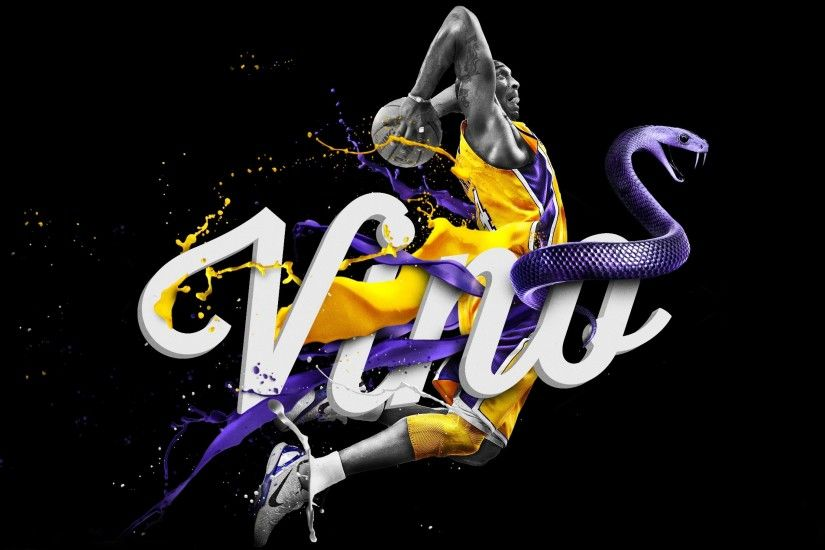 Preview wallpaper los angeles lakers, nba, kobe bryant, logo, basketball  3840x2160