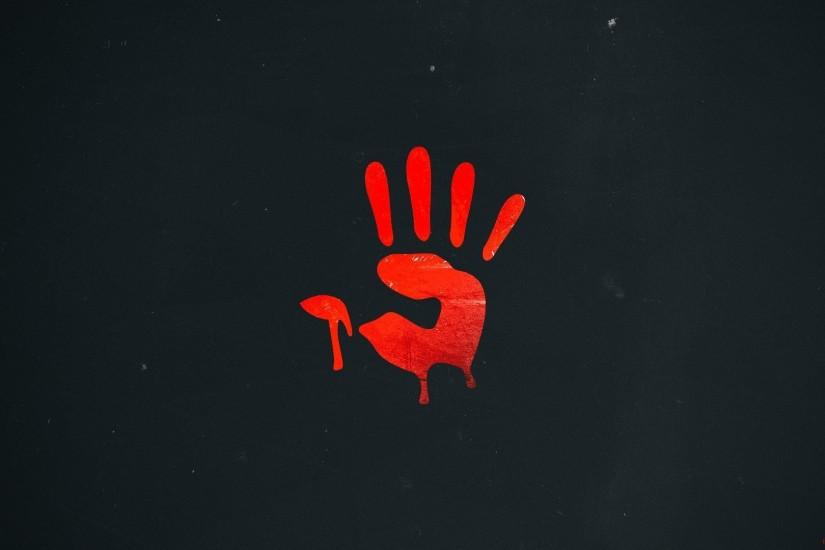 a4tech bloody red company hand mark red style mouse