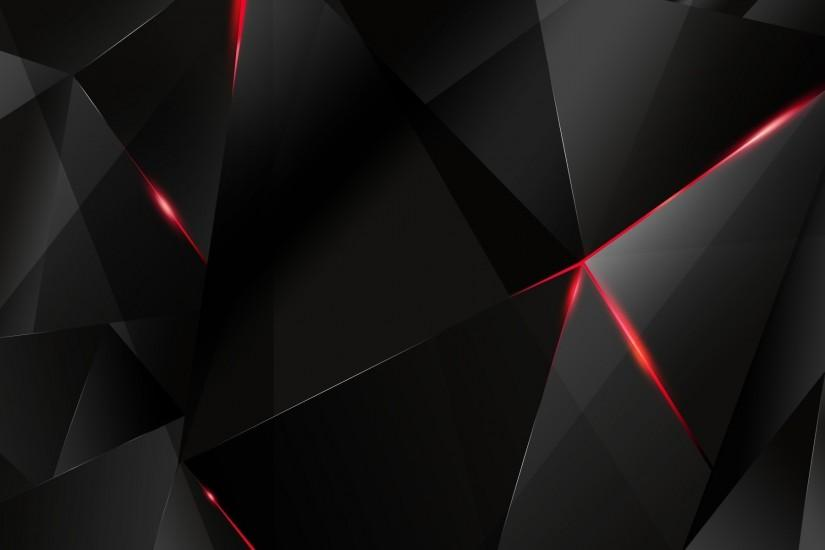 Black polygon with red edges Wallpaper #1202