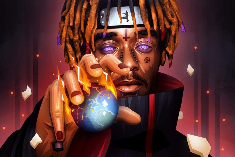 """Lil Uzi Vert ""Pain"" Naruto & Devil Themed Artwork Designed by Me / RTs &  Likes Appreciated"