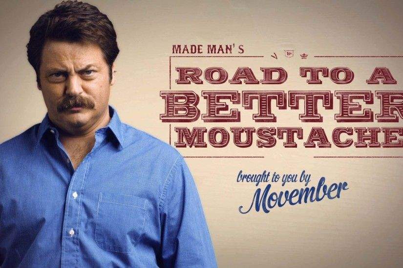 Nick Offerman, Movember, Moustache Wallpapers HD / Desktop and Mobile  Backgrounds