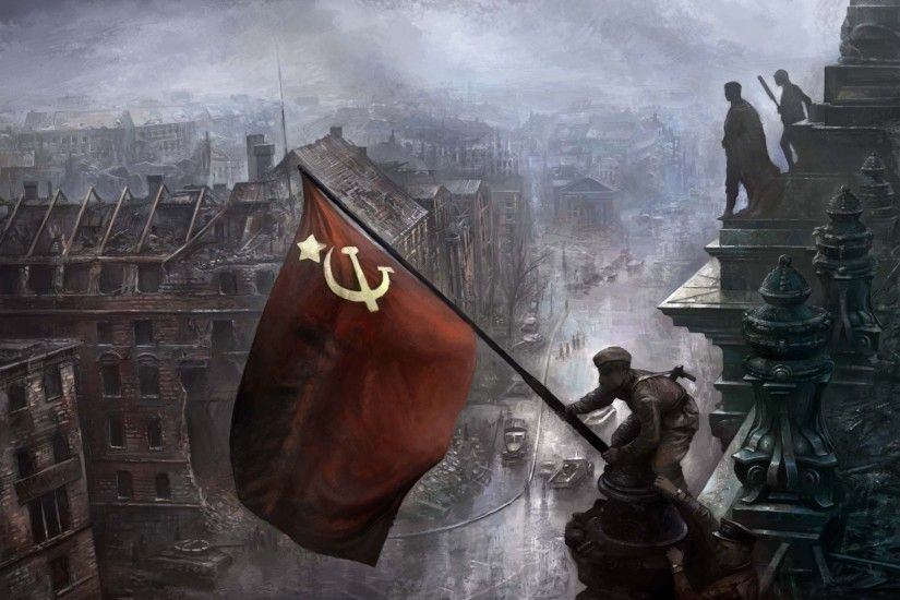 history, Flag, Painting, USSR, Artwork
