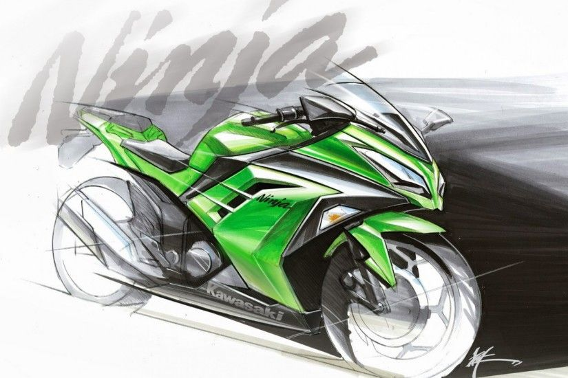 Bike model Kawasaki Ninja 300