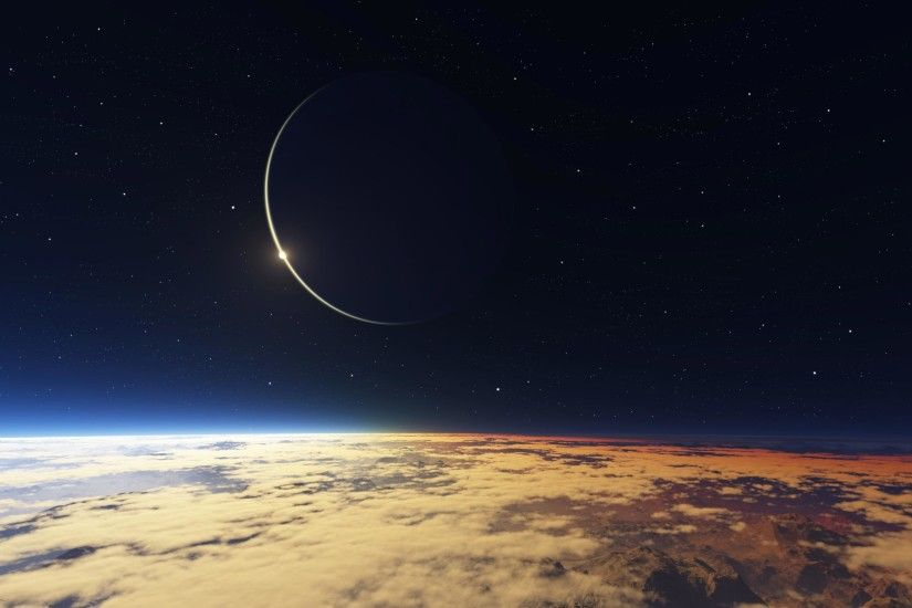 Solar Eclipse Wallpaper Solar Eclipse from Space HD desktop wallpaper :  High Definition ...