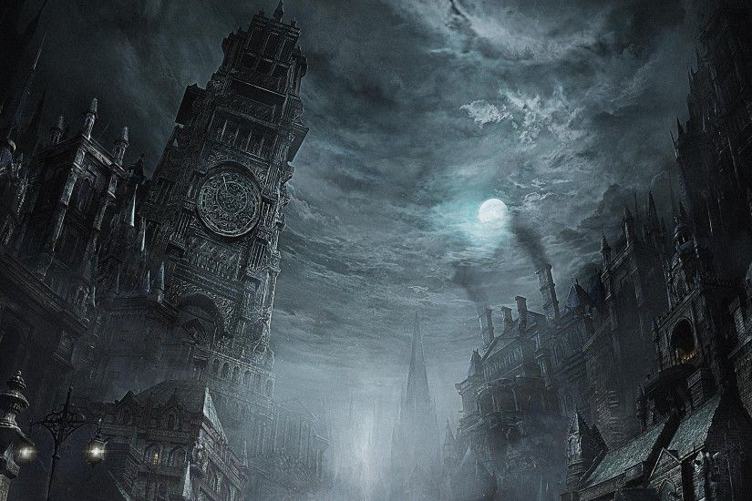 BLOODBORNE rpg action fighting gothic survival apocalyptic dark sci-fi  horror fantasy wallpaper | 2880x1620 | 532011 | WallpaperUP