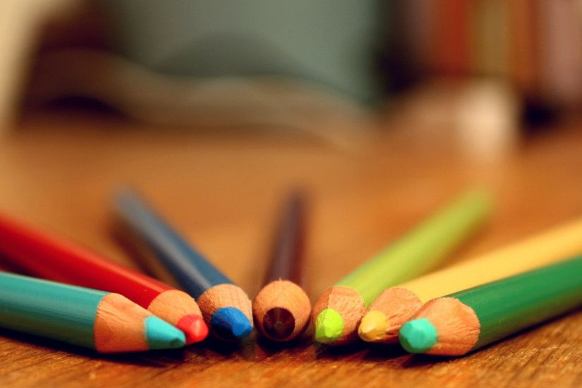 1920x1080 Wallpaper crayons, colored, colorful, set