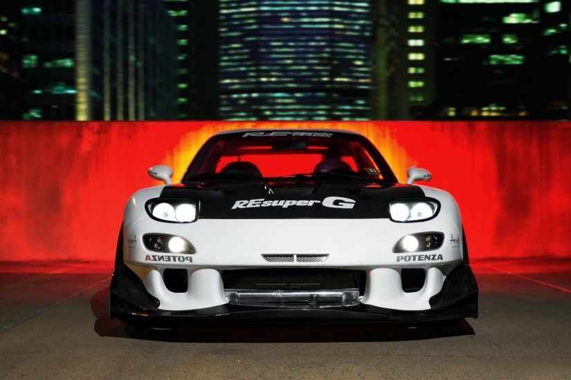 mazda rx-7 tuning car night tuning rx7