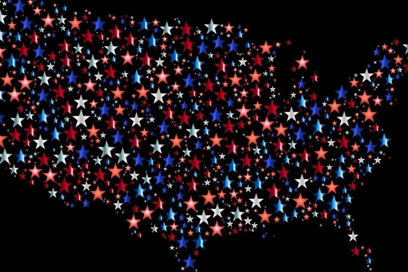 black background, Digital art, USA, Stars, Colorful, Map Wallpapers HD /  Desktop and Mobile Backgrounds