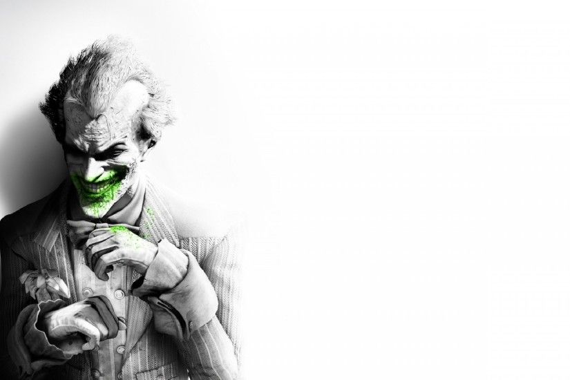 Preview wallpaper batman arkham city, joker, smile, suit, flower, fan art