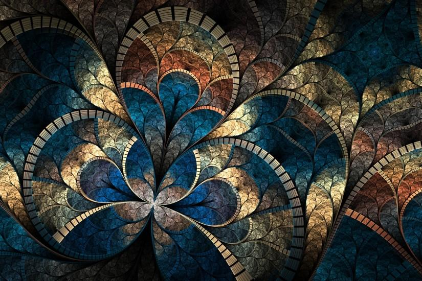 Abstract Fractals Wallpaper 1920x1080 Abstract, Fractals, Mosaic .
