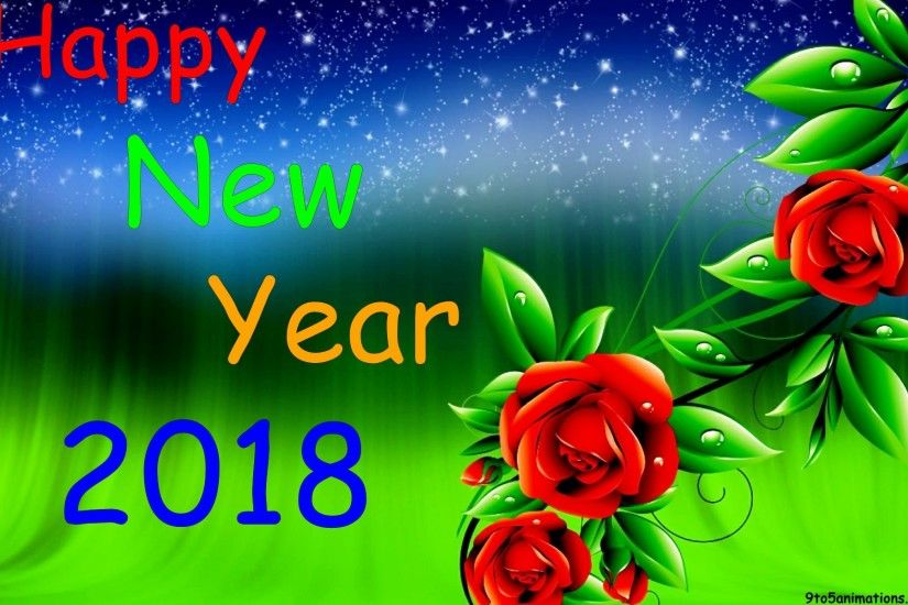 Happy new year 2018 floral backgrounds for desktop