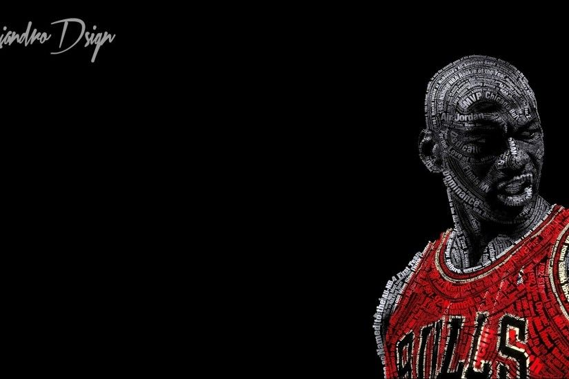 typographic Portraits, Michael Jordan, Basketball, Chicago Bulls, Black  Background Wallpapers HD / Desktop and Mobile Backgrounds