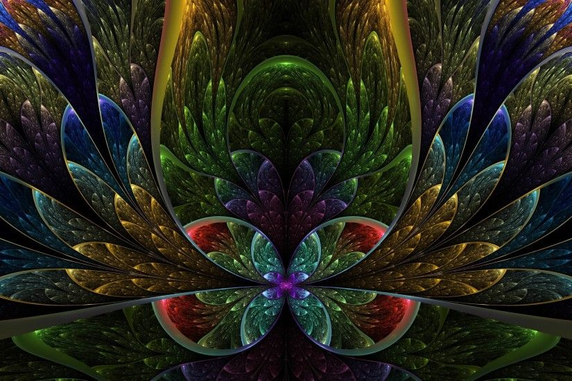 Fractal 3D Flowers Wallpapers | Wallpapers Grill