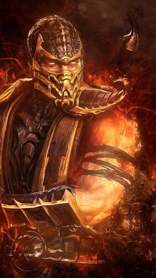 Wallpaper mortal kombat scorpion sword