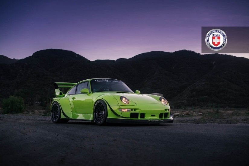 Porsche 993 RWB with HRE Classic 300 in Satin Black | HRE Performance Wheels