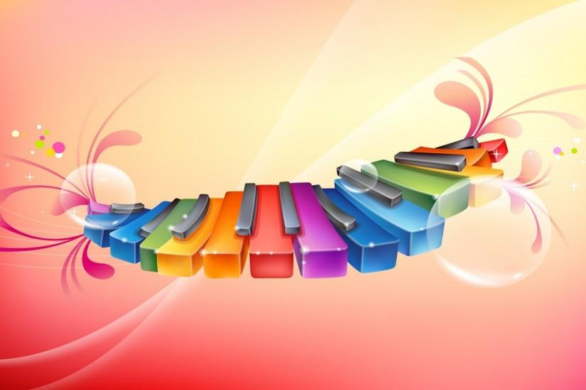 Colorful Music Desktop Backgrounds HD wallpaper background