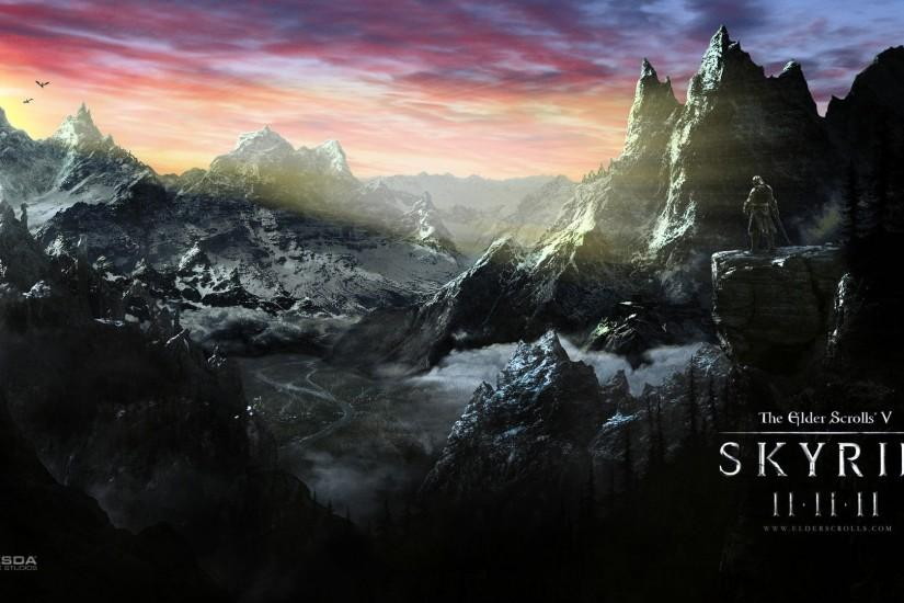 Background Skyrim wallpaper HD.