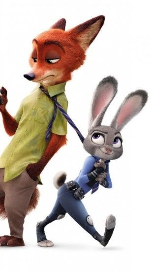 1080x1920 Wallpaper zootopia, disney, nick wilde, judy hopps