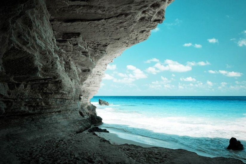 Nature Wallpaper - rocky sea nature wallpaper