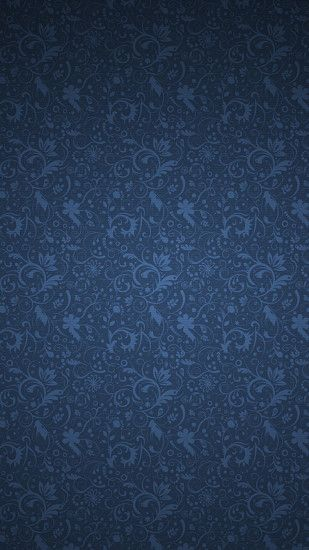 Background Blue floral pattern HD Wallpaper iPhone 6 plus