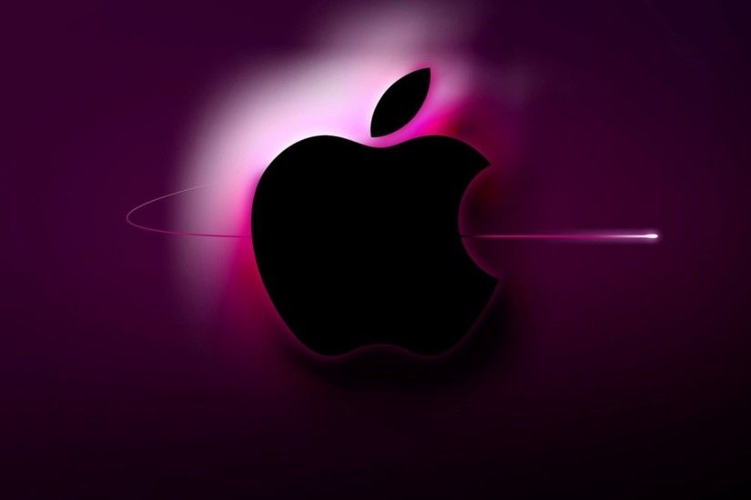 Purple Apple Logo 4K Wallpaper
