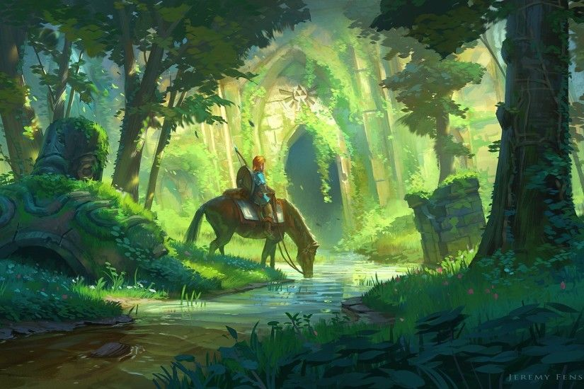 Video Game - The Legend of Zelda: Breath of the Wild Link The Legend of