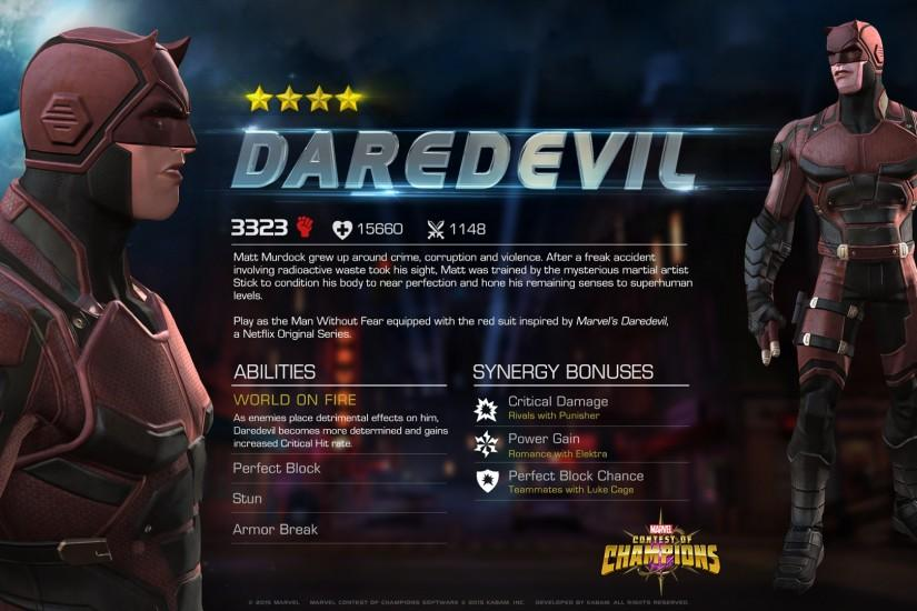 MARVEL CONTEST OF CHAMPIONS GAME UPDATE INSPIRED BY MARVEL'S NETFLIX  SERIES: NEW DAREDEVIL AVAILABLE AND SPECIAL JESSICA JONES IN-GAME CAMEO |  MUReview