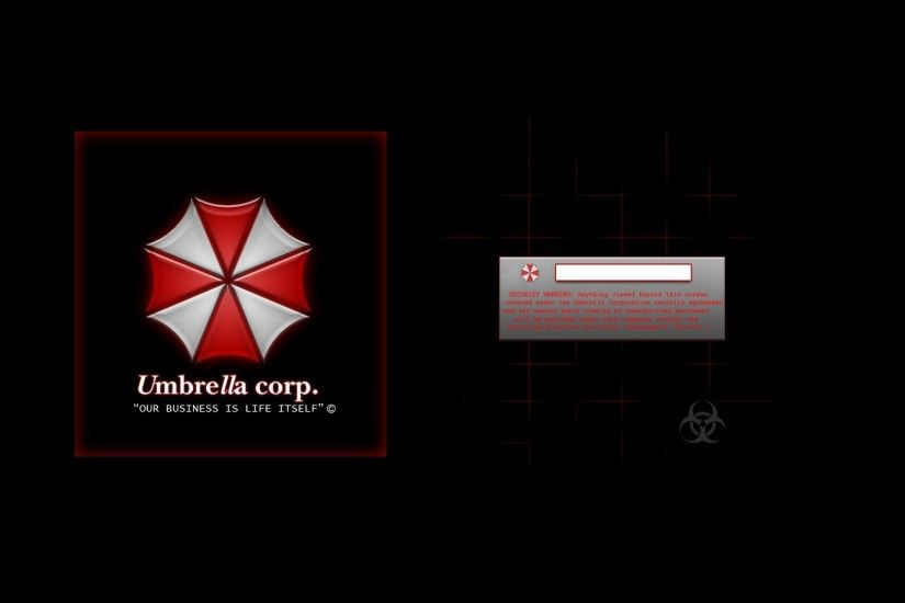 video Games, Resident Evil, Typography, Black Background, Umbrella .