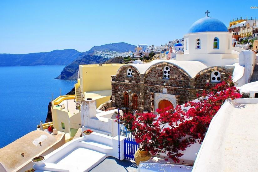 Santorini, Greece Wallpaper - Beach Wallpapers - #22173