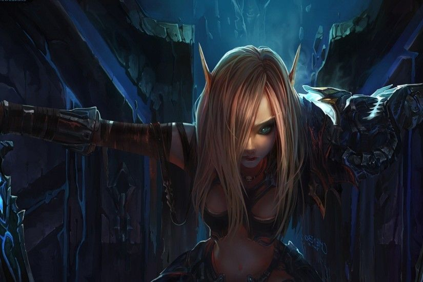 Elf world of warcraft game hd wallpaper 1920x1080.