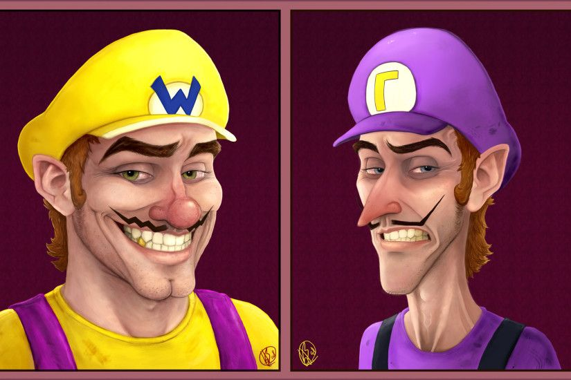 Portraits: Wario + Waluigi by Elusive-Angel ...