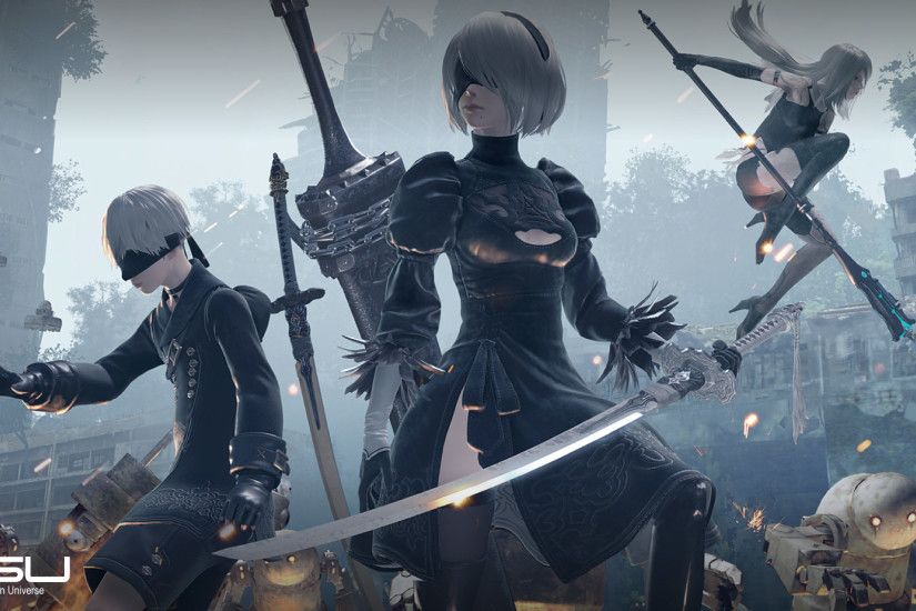 Nier Automata features iconic imagery, and this wallpaper captures the  magic of one of 2017's best games.