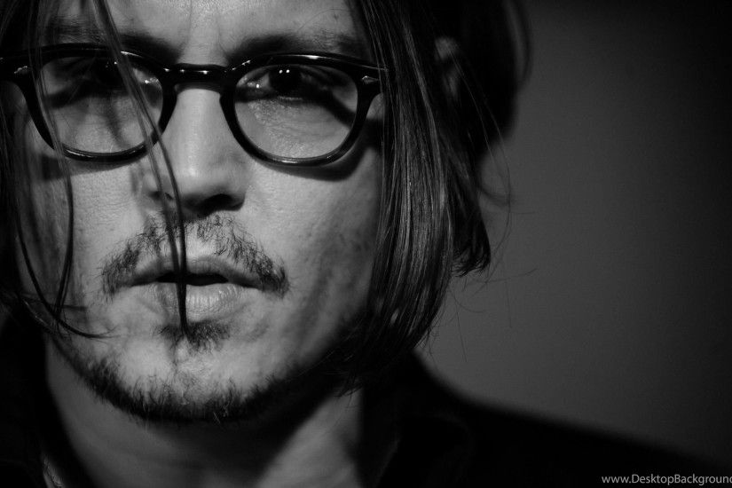 Johnny Depp Actor Face Glasses Beard Black Hd Wallpapers