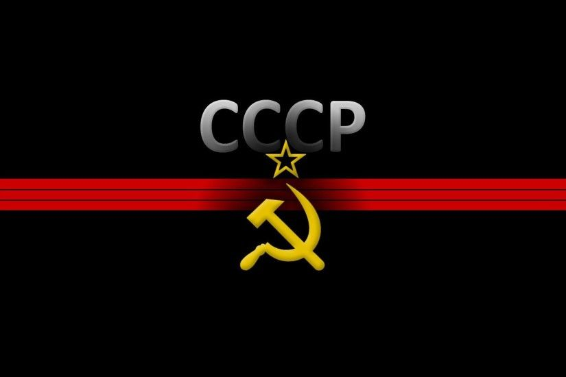 soviet union the hammer and sickle star black background