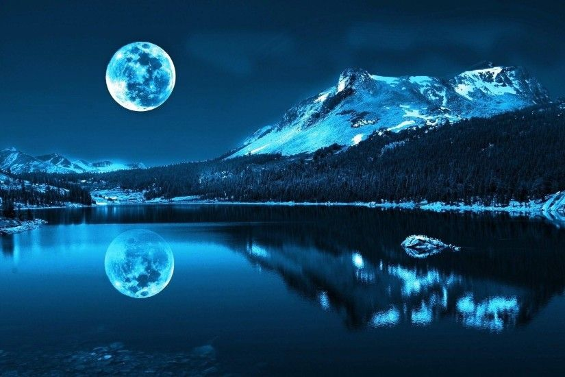 Mountain Moon Lake HD Wallpapers. Download Desktop Backgrounds, Photos,  Mobile Wallpapers in HD