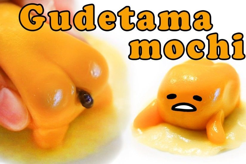 Home made Gudetama mochi !DIY edible squishy! Gudetama pooping chocolate!  ぐでたま 餅, もち - YouTube