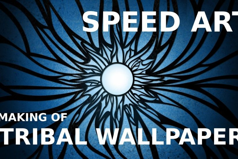 Speed Art: Solar flare (tribal wallpaper)