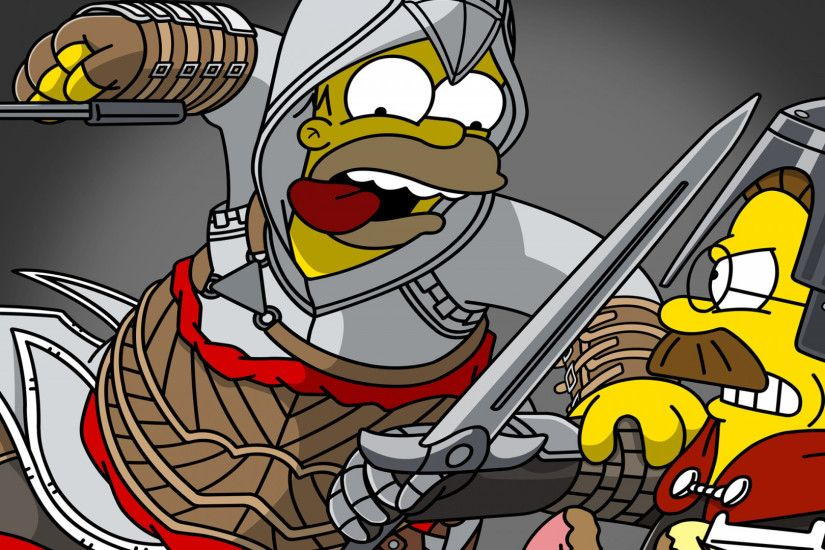 1920x1080 Wallpaper the simpsons, homer simpson, ned flanders