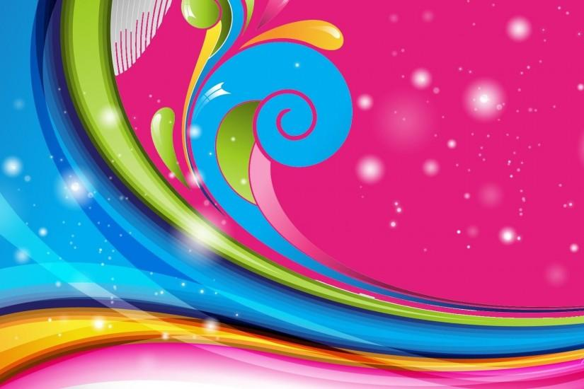 HD Rainbow Color Swirl Wallpaper