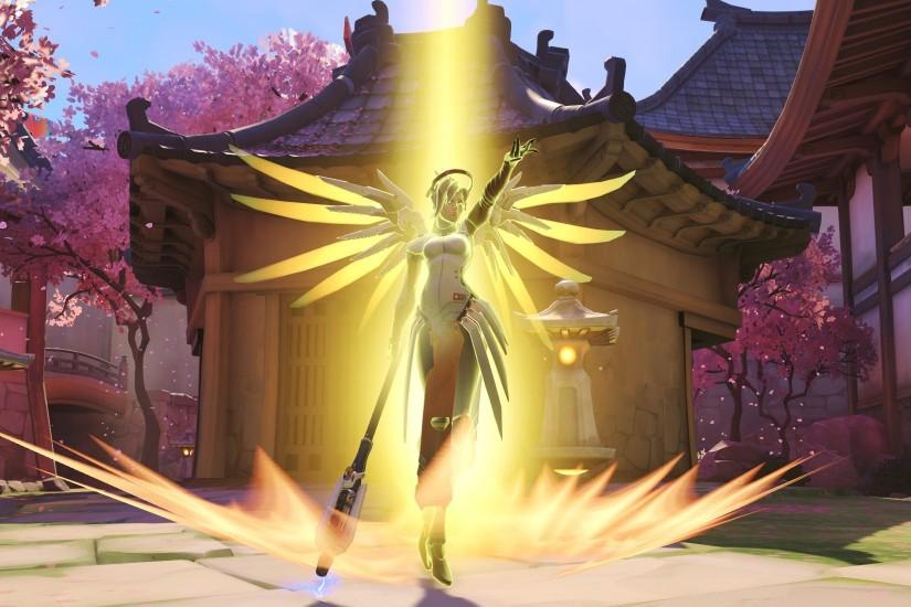 overwatch mercy wallpaper 1920x1100 large resolution