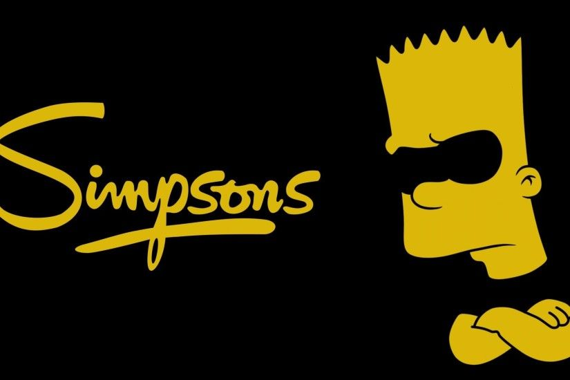 the simpsons the simpsons bart bart minimalism black yellow