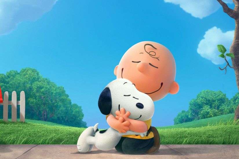 Snoopy with Charlie Brown Wallpaper