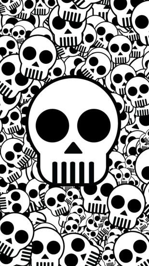 Preview wallpaper skull, texture, black white, surface 1080x1920