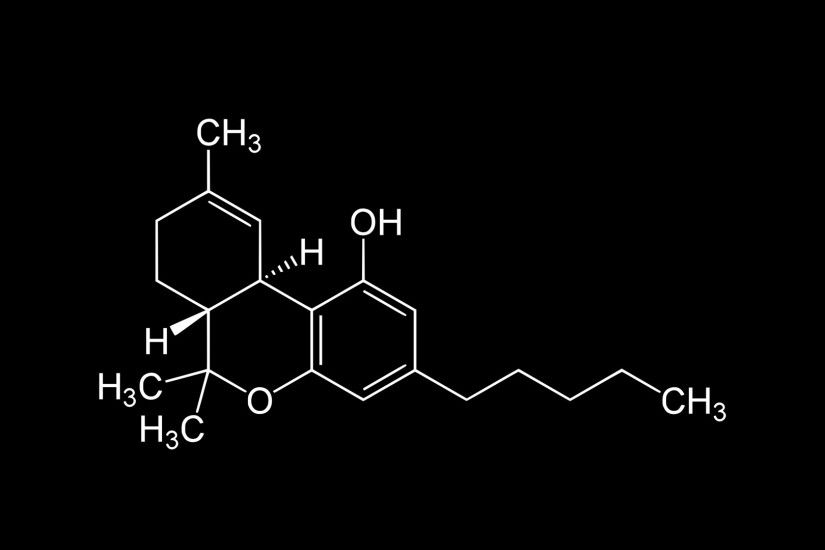 THC Molecule Wallpaper [1920x1080](OC) Reverse B&W in comments ...