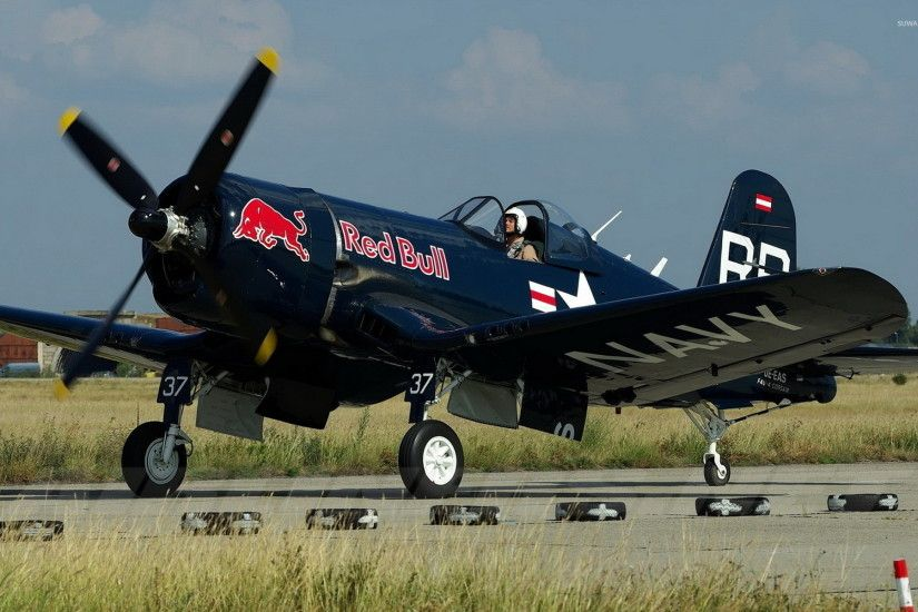 Vought F4U Corsair on track wallpaper