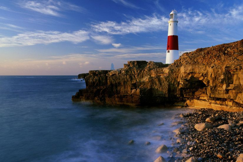 lighthouse backgrounds desktop wallpaper dorset england 1920x1080
