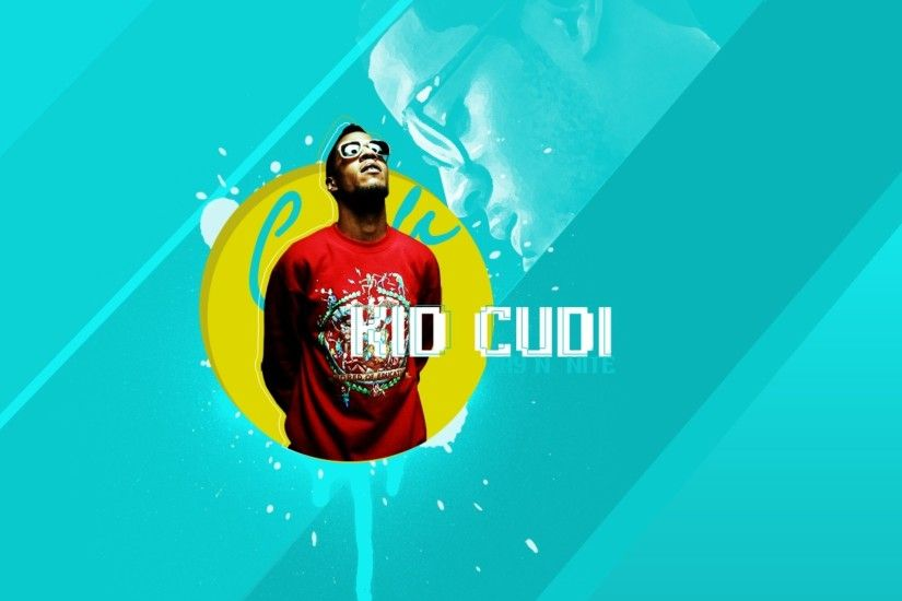1920x1080 Wallpaper kid cudi, letters, circle, background, glasses