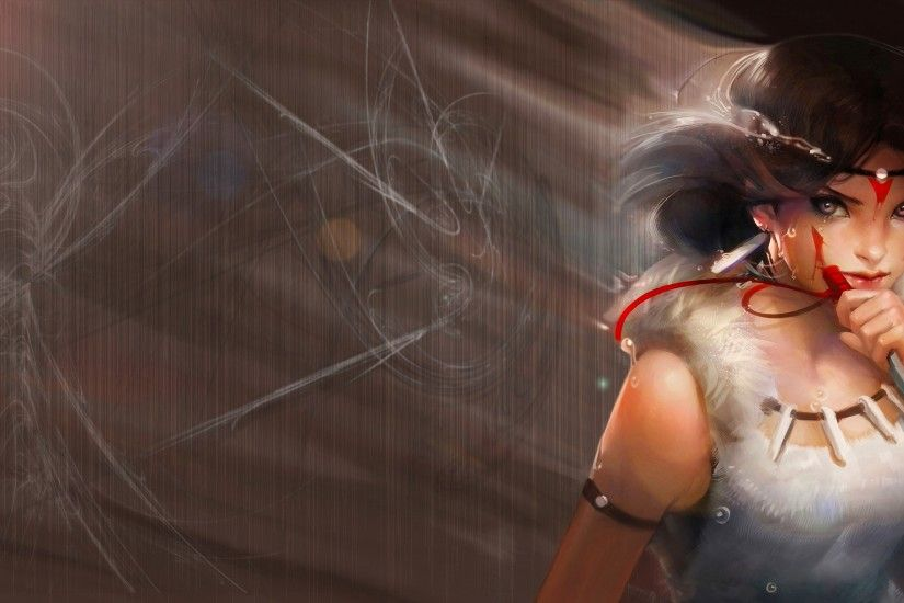 Princess Mononoke Wallpaper by inkko666 Princess Mononoke Wallpaper by  inkko666